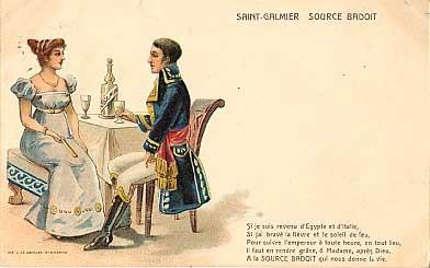 Advert Saint-Galmier Water France