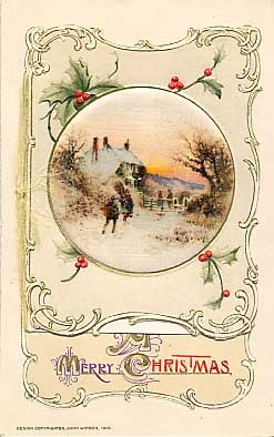 Christmas Greetings Winsch Novelty