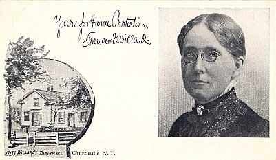 Prohibitionist Willard Churchville NY