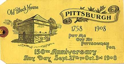 Novelty 150th Anniversary Pittsburgh
