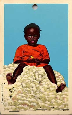 Novelty Black Girl Real Cotton Ball