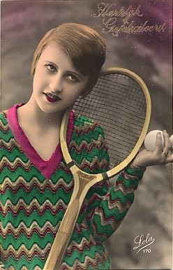 Tennis Player Real Photo French