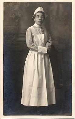 Red Cross Real Photo Nurse