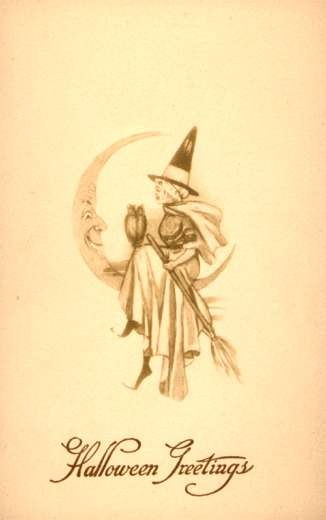 Witch on Moon Owl