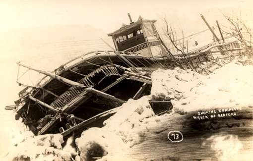 Wreck of Boat Real Photo