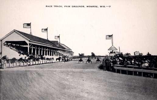 Harness Racers Race Track Monroe WI