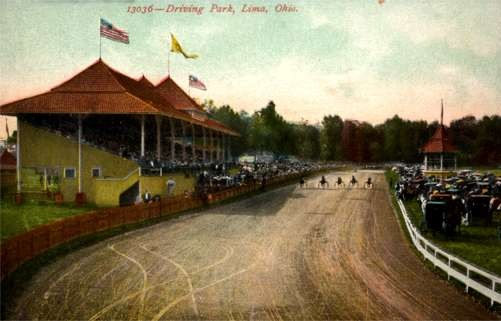 Harness Racers at Race Track Lima Ohio