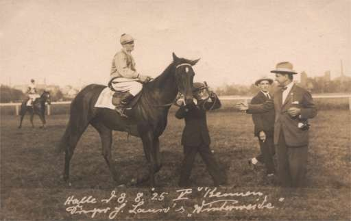 Jockey on Horse Real Photo
