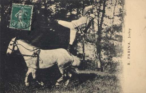 Jockey Balancing on Horse