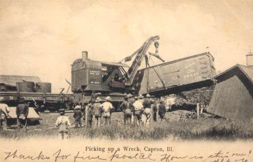 Train Wreck Lifting Crane Illinois