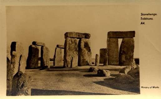 Stonehenge Trilithons Real Photo