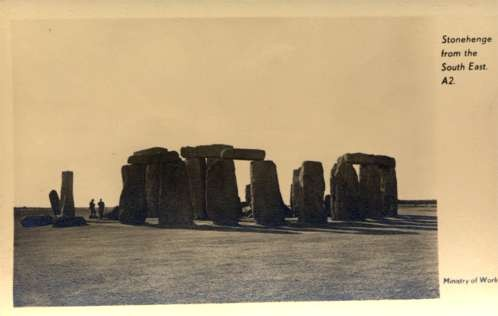 Stonehenge from South East Real Photo
