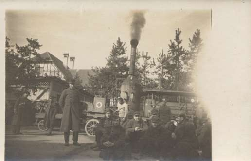 Military Red Cross Steam Truck Real Photo