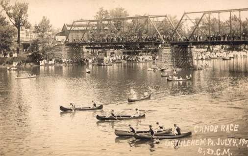 PA Bethelehem Canoe Race Real Photo