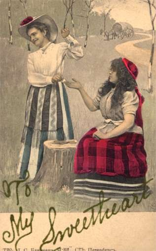 Lady Paying to Fortune Teller