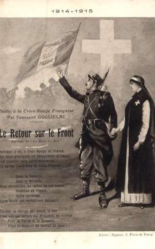 Soldier Nurse Holding Hands WWI