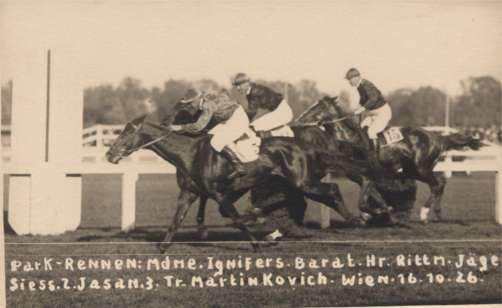 Horse Racers Real Photo