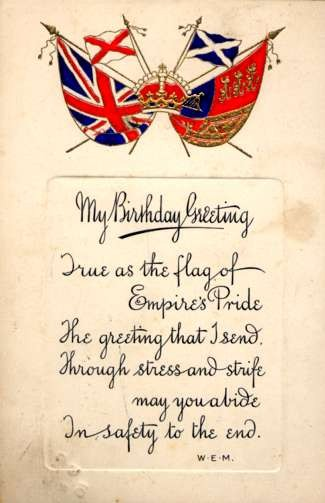 British Flags Crown Poem Birthday
