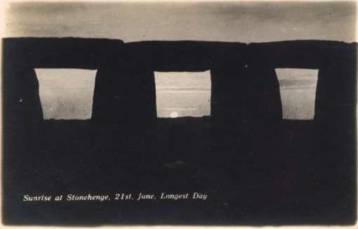 UK England Stonehenge Sunrise Real Photo