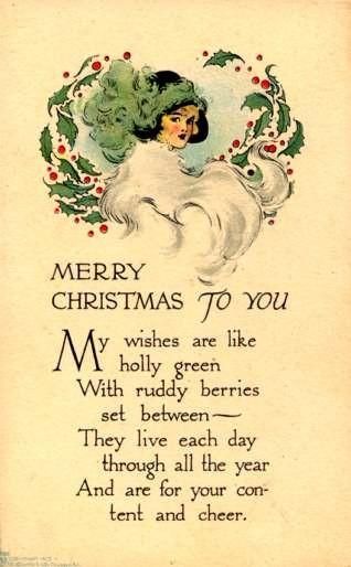 Lady in Fur Christmas Poem Volland #385
