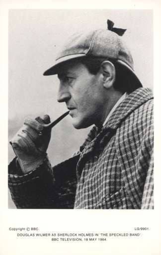 Sherlock Holmes with Pipe Real Photo