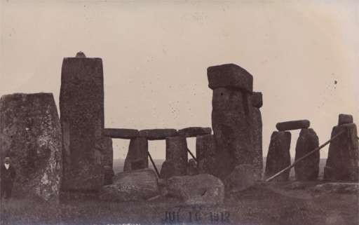 Tourist Stonehenge Real Photo