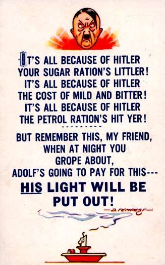 WWII Puzzled Hitler Candle Poem