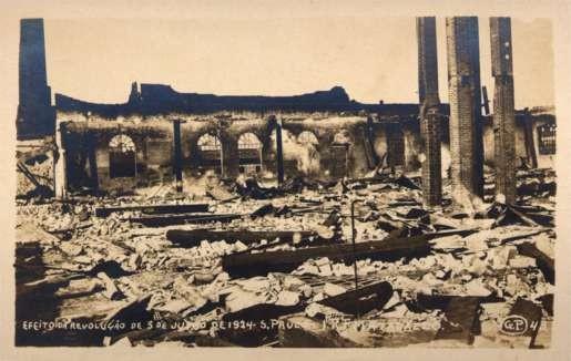Brazil St. Paulo Ruins Revolution 1924 RP