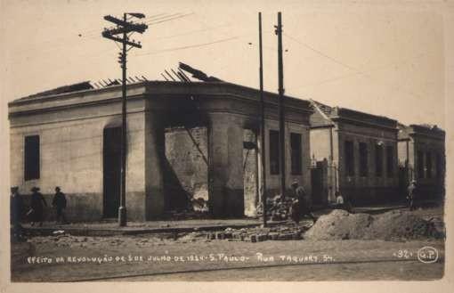 Brazil St. Paulo Damaged Houses Revolution 1924 RP