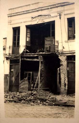 Brazil St. Paulo Revolution 1924 Ruined Bldg RP
