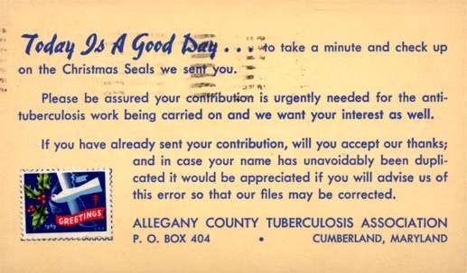 Advert Christmas Seals MD Tuberculosis Association