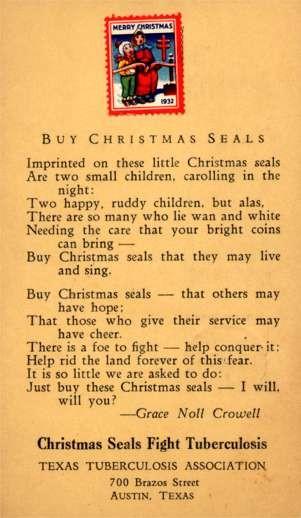 Advert Christmas Seals TX Tuberculosis Association