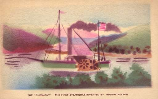First Steamboat by Fulton Pochoir