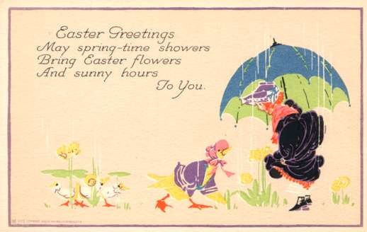 Child Meeting Dressed Duck Rain Poem Volland #5610