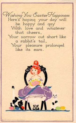 Rabbit by Sitting Child Poem Volland #5607