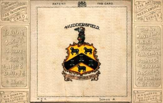 Coat of Arms Huddersfield Printed Silk Fab