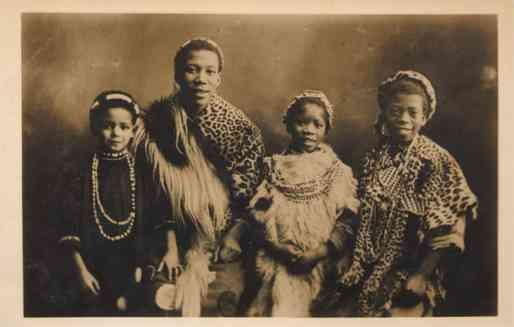 Black Family African Circus Performers Real Photo