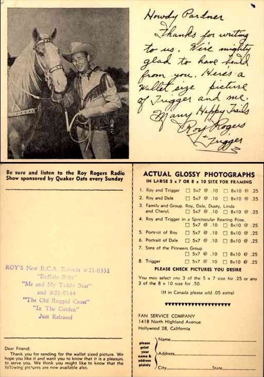 Radio Show Cowboy Rogers Horse Advert Photos