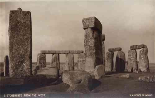 UK Stonehenge from West Real photo