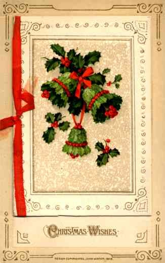 Bells Made of Leaves Christmas Winsch Novelty