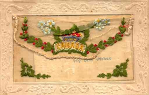 Flowers Canada Embroidered Silk French
