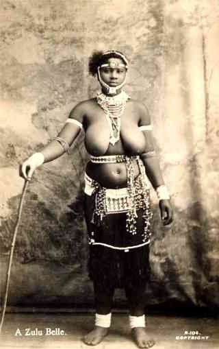 Black Zulu Nude Girl Real Photo