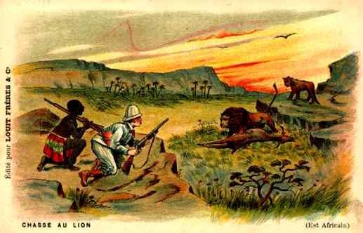Black Hunter Lion Lioness Africa Advert Chocolate