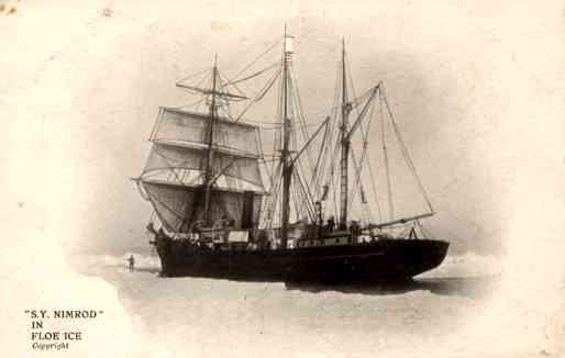 Polar Exploration Sailboat Stuck in Ice