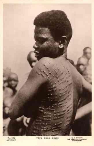 Black Tatooed Skin Sudan Real Photo