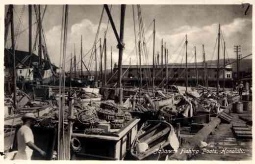 Japanese Fishing Boats in Honolulu RP