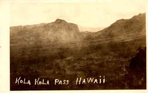 Hawaii Pass Real Photo