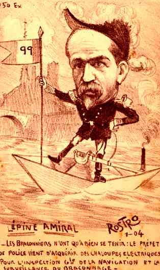Admiral Lepine in the Paper Boat French