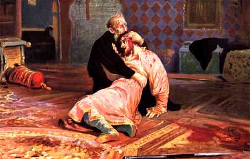 Tsar Ivan Terrible Holding His Wounded Son