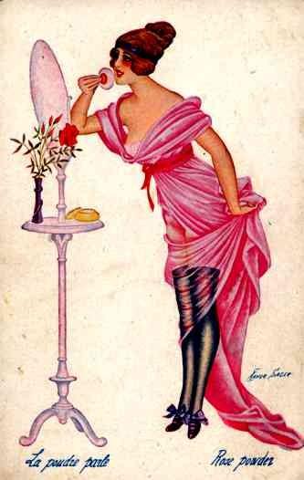 Glamour Lady with Powder